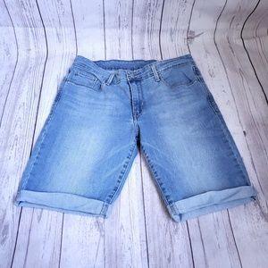 Levi's Jean shorts longer length blue 30